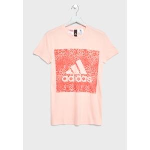 Тениска в прасковен цвят Adidas  CF7252