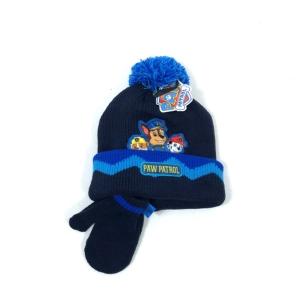 Детска шапка с ръкавички с Paw Patrol