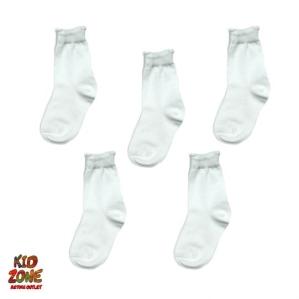 Бели чорапки в  пакет от 5 чифта