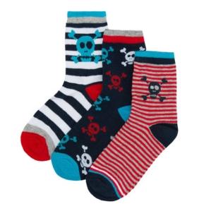 Чорапи с черепчета, цената е за 3 бр.