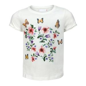 Детска блуза с цветя и пеперуди Nutmeg