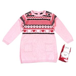 Комплект от рокля фино плетиво с чорапогащник Minoti