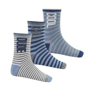 Чорапи в сиво -синьо райе