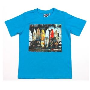 Тениска със сърфове Dude Skin в син цвят
