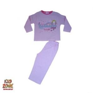 Пижама с момиченце и дъга