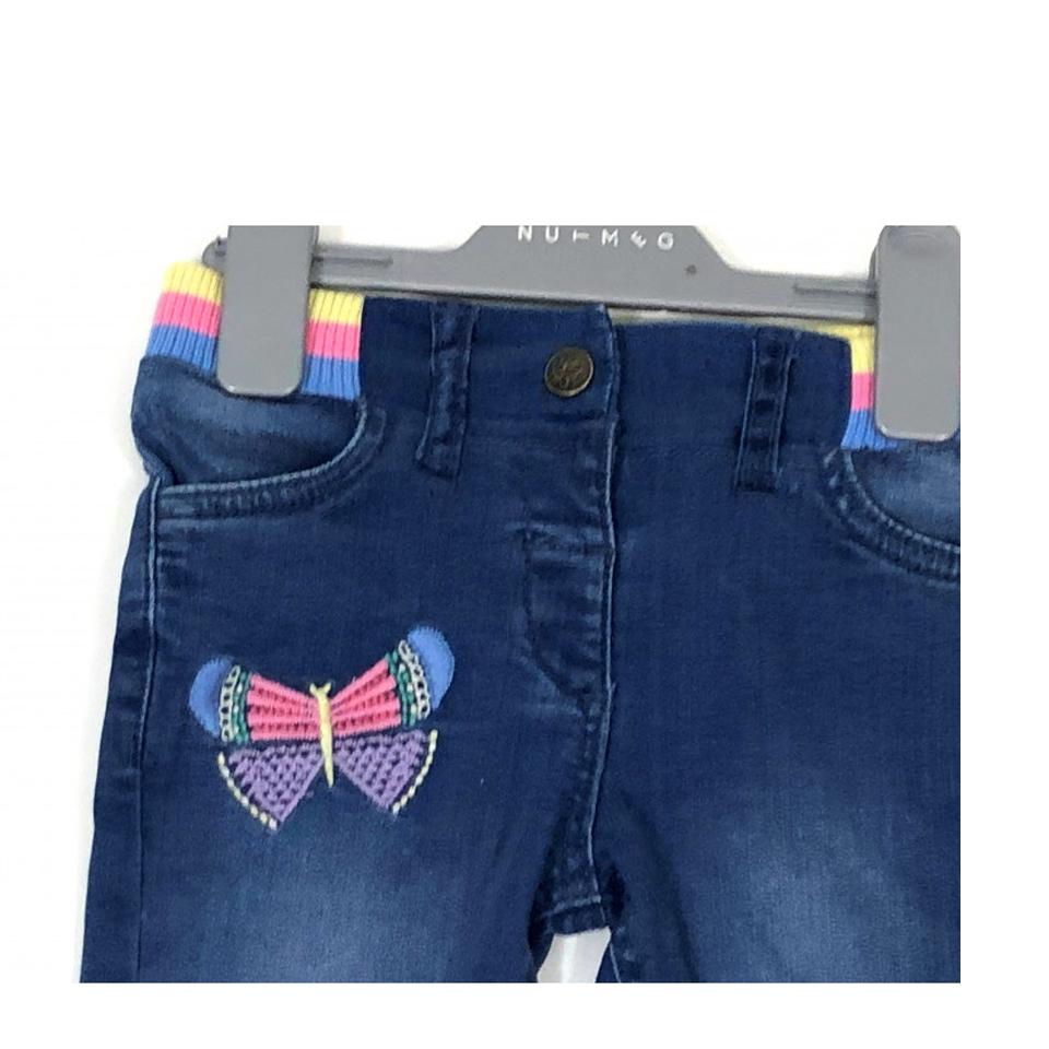 Детски дънки с пеперуда Nutmeg