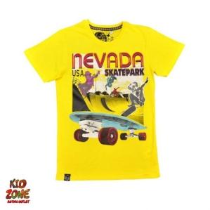 Блузка в жълто  със скейтборд C&A
