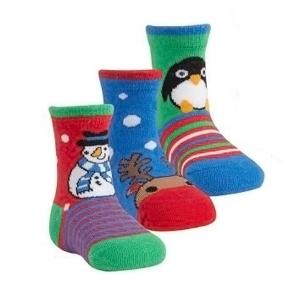 Чорапки с коледни мотиви