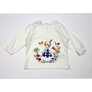 Детска блуза с момиченце и цветчета M&S
