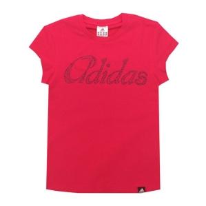 Дамска тениска Adidas  в тъмно цикламен цвят