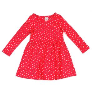 Детска трикотажна рокля на сърчица C&A