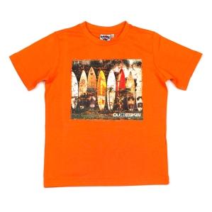Тениска със сърфове Dude Skin