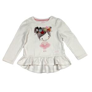 Детска блуза с момиченце  и нежна декорация  F&F
