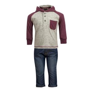 Модерно комплектче дънки с блузка